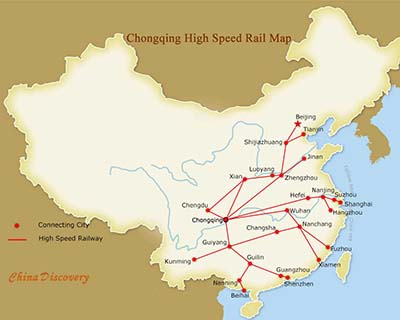 Chongqing High Speed Train Map