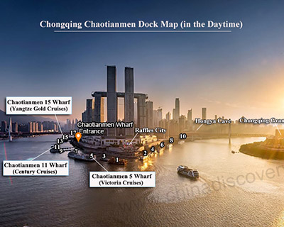 Transfer Map of Chongqing Port