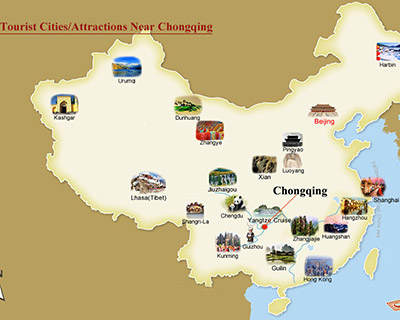 Chongqing nearby Attractions Map