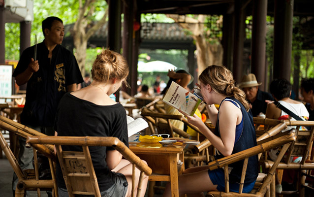Experience Chengdu local living style in People's Park
