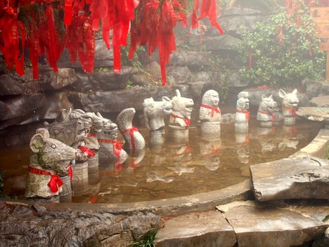Statues of Twelve Chinese Zodiac Animals