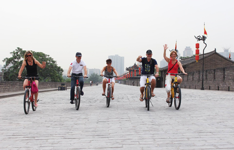 Cycling on Xian Ancient Wall