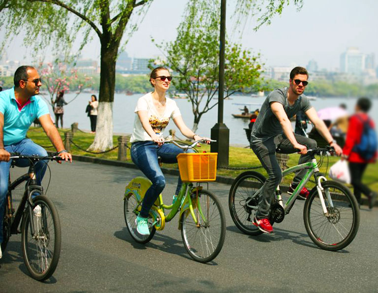 Hangzhou West Lake Cycling Tour