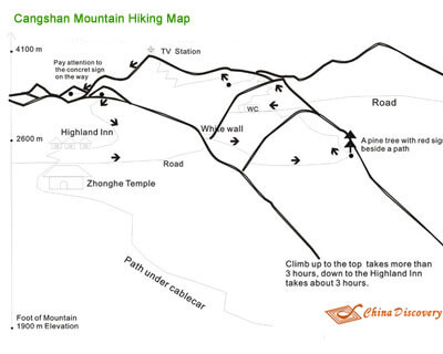 Cangshan Mountain Map