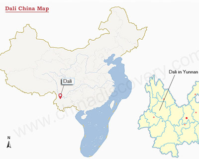 Dali Yunnan China Map