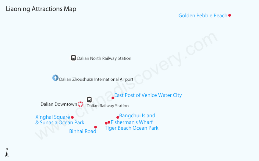 Maps of Dalian: detailed and downloadable Dalian China Map on