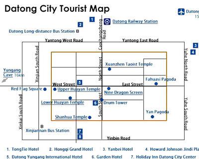 Datong Tourist Map