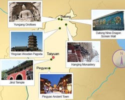 Shanxi Attraction Map