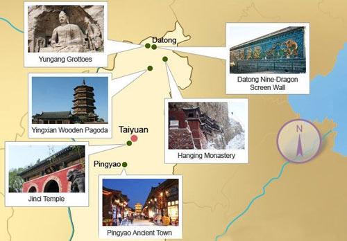 Shanxi Map, Shanxi Province Map, Shanxi China Map