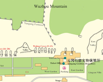 Yungang Grottoes Map