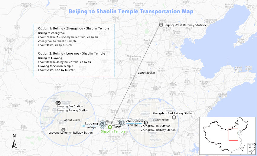 Beijing to Shaolin Temple
