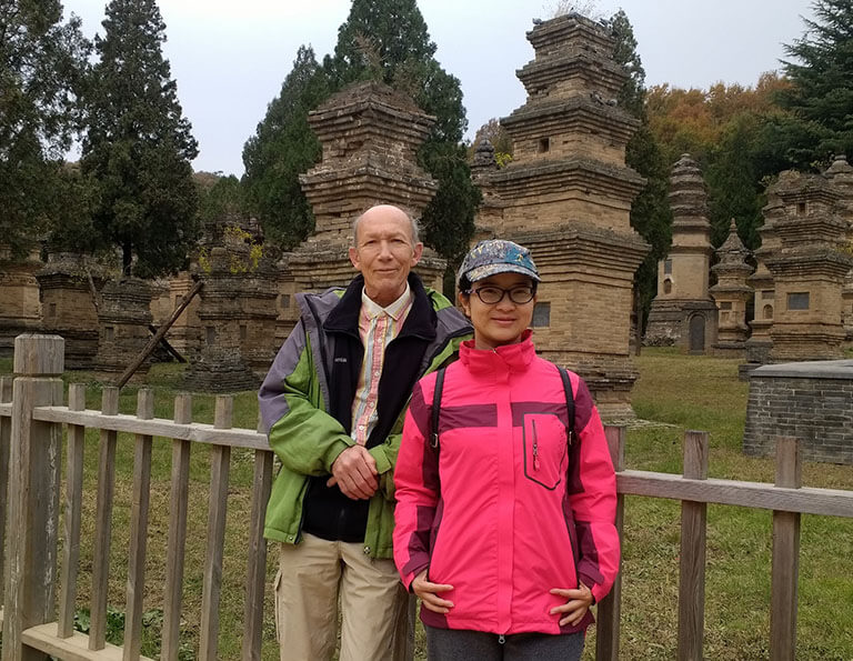 Our dear guest Roger visited Pagoda Forest of Shaolin Temple