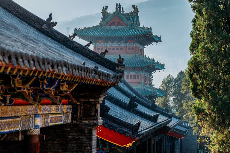 Grandiose ancient temples in Shaolin Temple