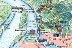 Map of Dujiangyan Irrigation System