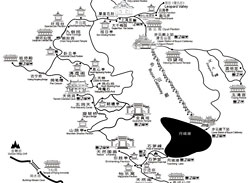 Mount Qingcheng Tourist Map