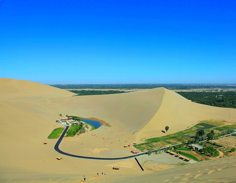 Crescent Lake in Dunhuang