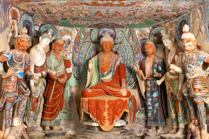 the Mogao Grottoes in Dunhuang