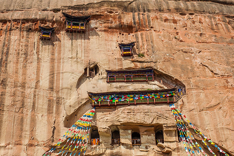 Matisi Temple is famous for Buddhist culture, grotto art, Qilian Mountain landscape and Tibetan culture