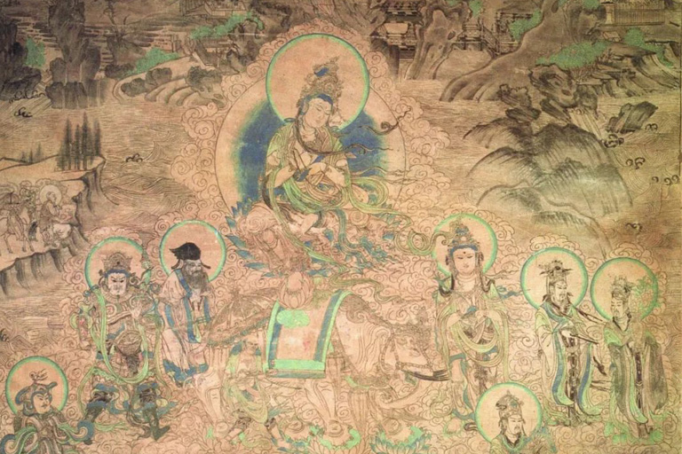 Yulin Grottoes Exquisite Mural Painting