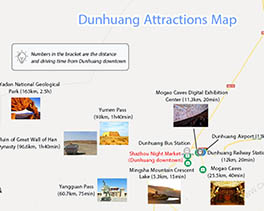 Dunhuang Tourist Attractions Map