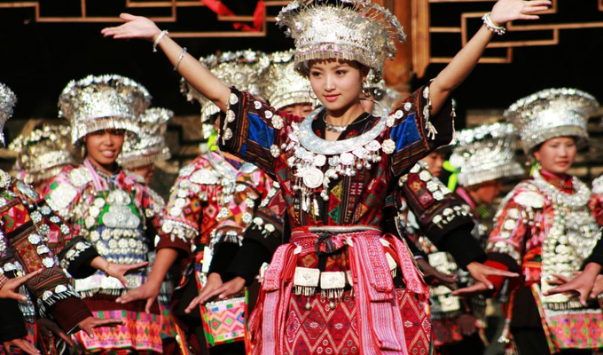 The Origin and Evolution of Chinese Dance | Teen Kids News Miao People Art