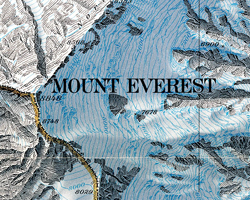 Everest geography map