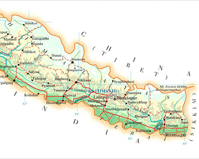 Mount Everest Nepal Map