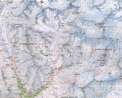 topographic map of mount everest Mount Everest Maps Map Of Mount Everest Base Camp