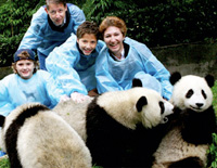 Family Tour in Chengdu Panda Reserve