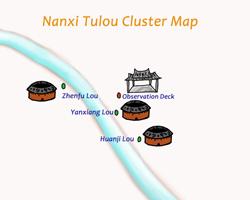Map of Nanxi Tulou Cluster