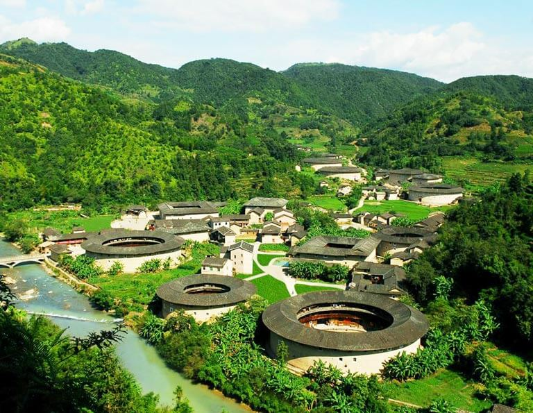 Hekeng Tulou Cluster Full View