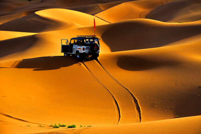 Exciting Jeep Safari in deep land of Badain Jaran Desert