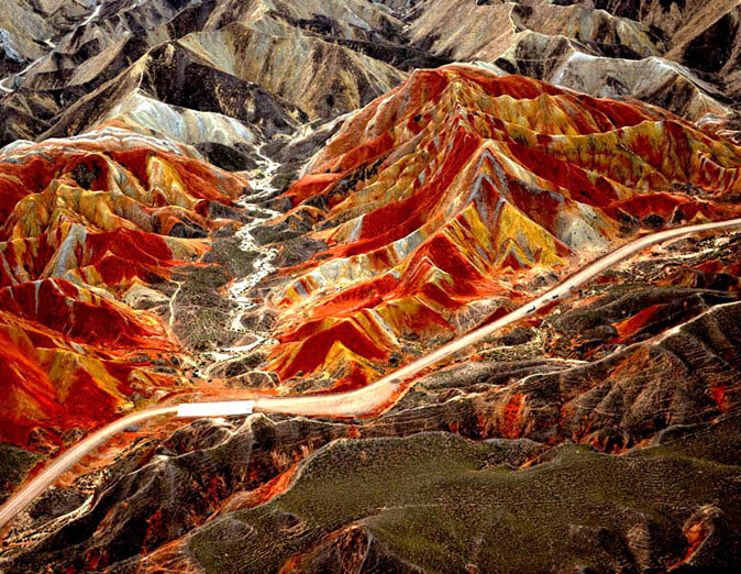 Zhangye Danxia Landform Views After Rain