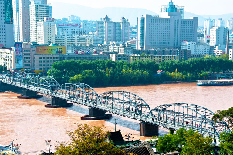 Lanzhou Iron Bridge of Yellow River