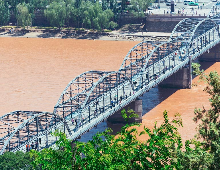 The Iron Bridge of Yellow River