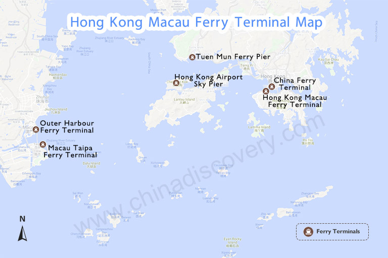 Hong Kong Macau Ferry Terminal Map