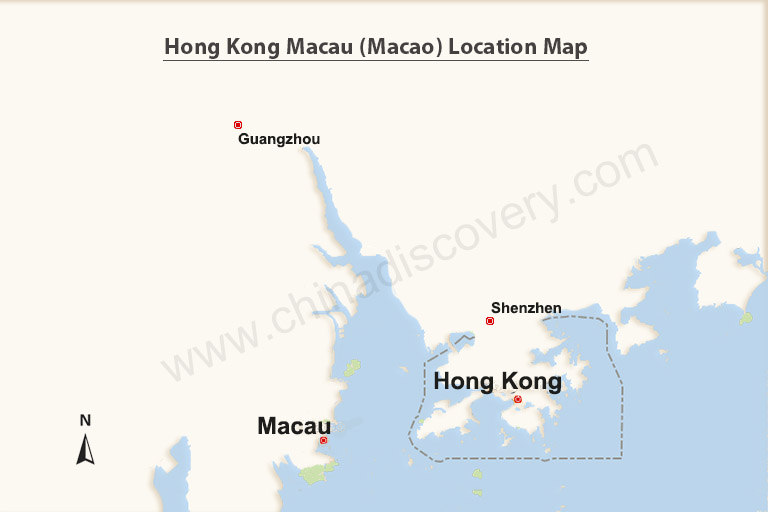 Hong Kong Macau Map