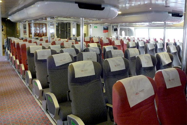 Hong Kong to Macau Ferry Economy Class Seat (TurboJET)