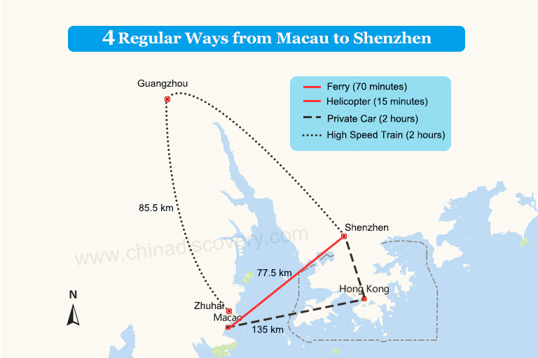4 Regular Ways from Macau to Shenzhen