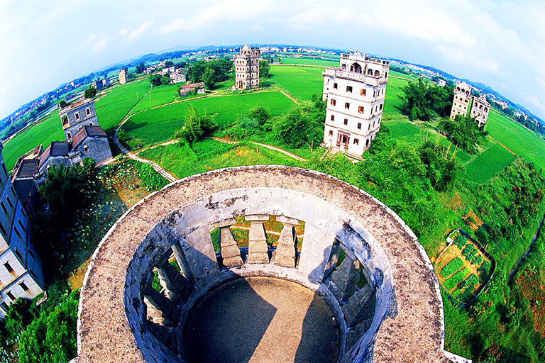 Panoramic View of Zili Village in Kaiping