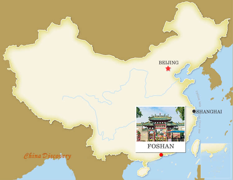 Foshan China Map