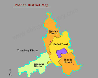 Foshan District Map