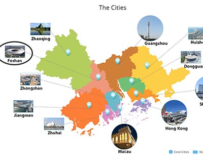 Foshan in Greater Bay Area Map