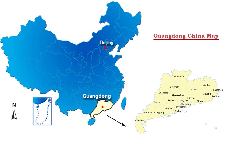Guangdong Map, Guangdong China Map