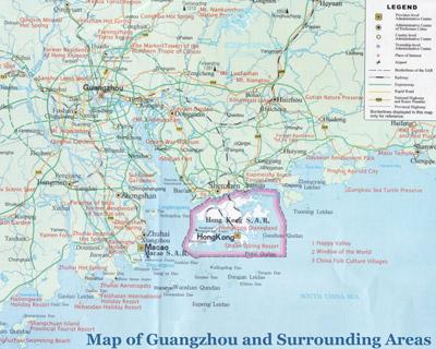 Guangzhou Guilin High Speed Train Maps & Railway Stations