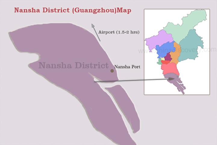 Guangzhou District Map, Guangzhou Area Map 2020