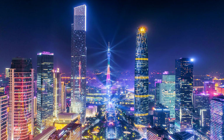 Huacheng Square - To See Stunning Guangzhou Skyline and Canton Tower