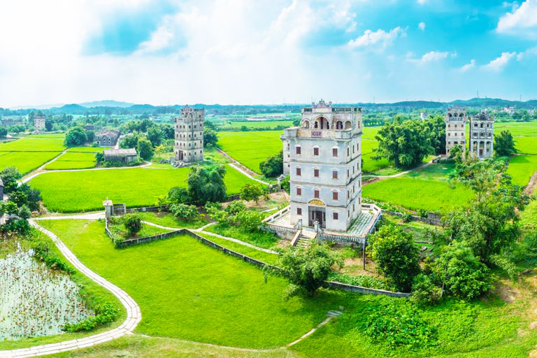 Panorama of Zili Village in Kaiping