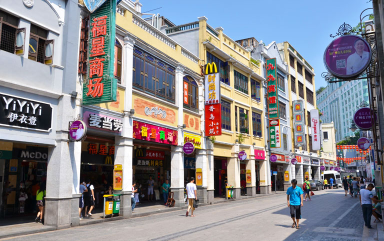 Shangxiajiu Pedestrian Shopping Street with Featured Arcade Buildings