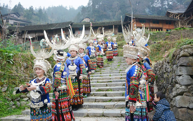 Hospitable Miao People in Upper Langde Miao Village